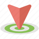 direction marketing, down arrow location, geo targeting, location arrow target, location target icon
