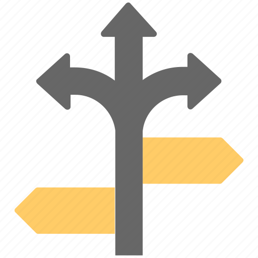 direction post, finger post, guidepost, junction ahead, signpost icon