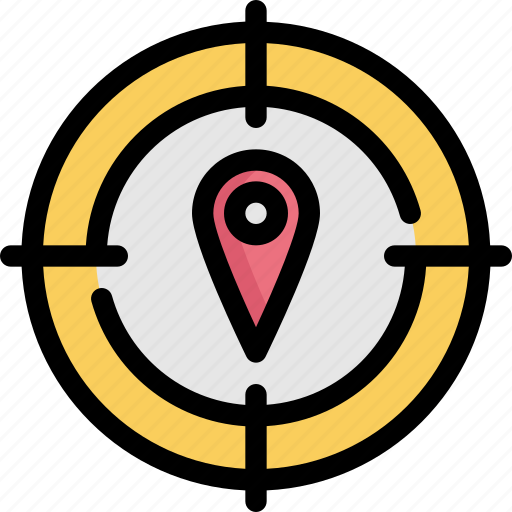 gps, location, map, marker, navigation, pin, target icon
