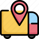 gps, location, logistic, map, marker, navigation, pin icon