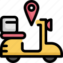 bike, gps, location, map, navigation, pin, pointer icon