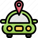 car, gps, location, map, navigation, vehicle icon