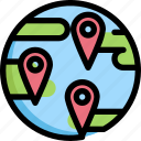 global, gps, location, map, navigation, pin icon