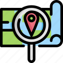 find, gps, location, map, navigation, pin, search