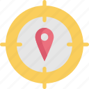 direction, gps, location, map, marker, navigation, target icon