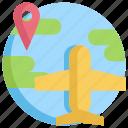 gps, location, map, navigation, pin, plane
