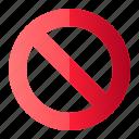 block, forbidden, prohibited, sign, stop