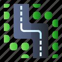 road, sign, winding, zig zag