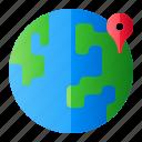 earth, location, pin, world