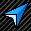 arrow, compass, direction, gps, navigation