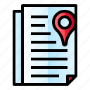 document, file, location, pin