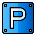 direction, parking area, road-sign, traffic-sign