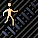 crosswalk, pedestrian, road, zebra crossing icon