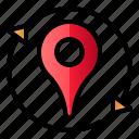 location, pin, pin synchronize, refresh, sync