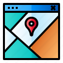 location, map, pin, route