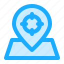 map, navigation, location, current, target