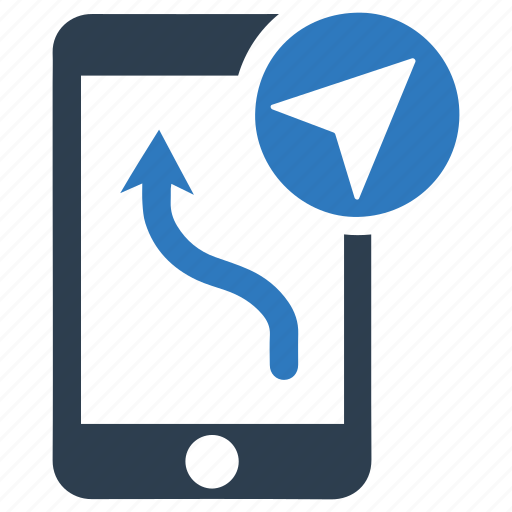 arrow, arrows, direction, mobile, navigate, technology icon