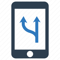 direction, gps, map, mobile, navigation, pointer, smartphone icon