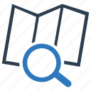 investigate, magnifier, map, navigate icon