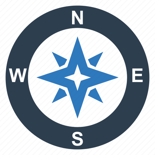 compass, navigation, rose, wind icon