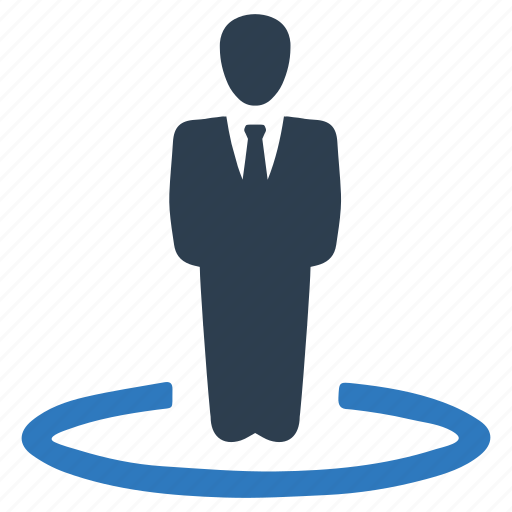 business, location, man, stand icon