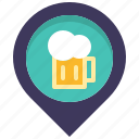 bar, beer, drink, location, map, pin, place