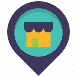 house, location, map, pin, place, shop, store icon