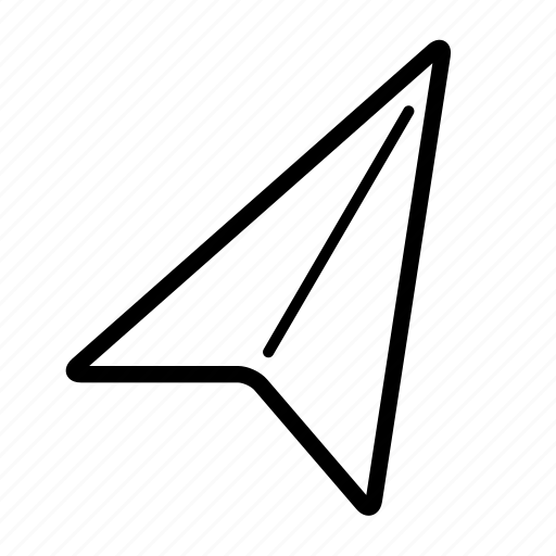 arrow, location, map, place, position, spot icon