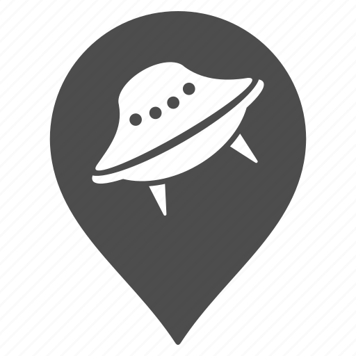 alien, map pointer, marker, pin, ufo landing, unknown, visitors icon