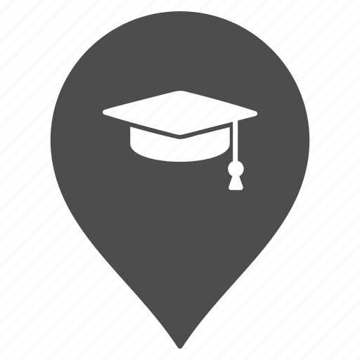 college, education, flag, map pointer, marker, pin, school icon