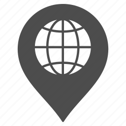 flag, globe, map pointer, marker, navigation, pin, world icon