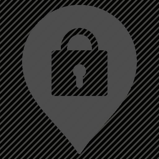 lock, locker, lockers, map pointer, marker, storage, warehouse icon