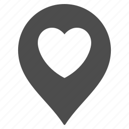 flag, heart, like, love, map pointer, marker, pin icon