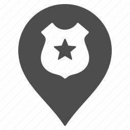 guard, map pointer, marker, military, pin, police, security icon
