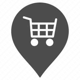 map pointer, marker, market, pin, shop, store, supermarket icon