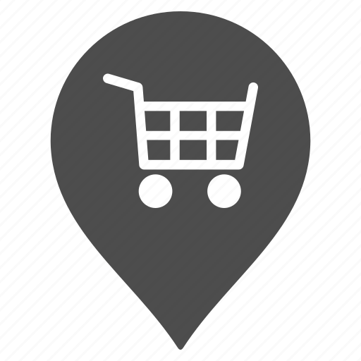 map pointer, marker, market, pin, shop, store, supermarket icon
