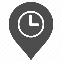 clock tower, flag, location, map pointer, marker, pin, time icon
