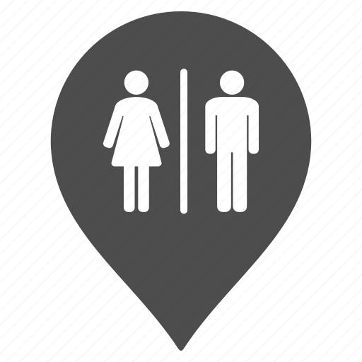 flag, map pointer, marker, pin, restroom, toilet, wc icon
