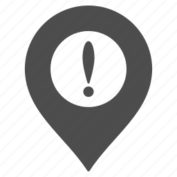 caution, danger, flag, map pointer, marker, pin, warning icon