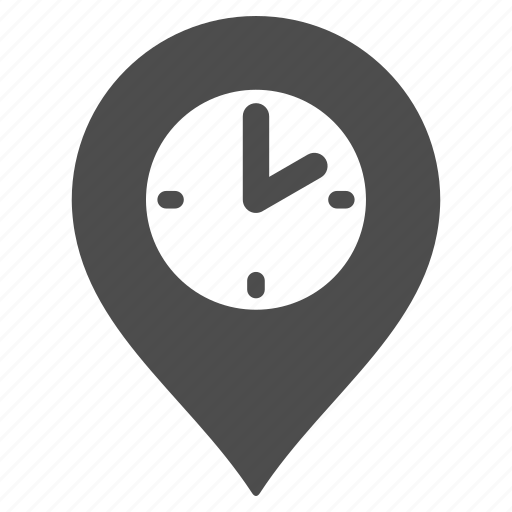 clock tower, flag, map pointer, marker, pin, position, time machine icon