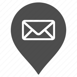 flag, location, mail box, map pointer, marker, pin, post office icon