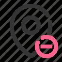 delete, location, map, navigation, place, remove icon
