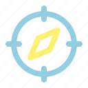 compass, direction tool, gps, map, navigation, navigation tool icon