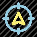 gps, location, location target, maps, navigation, navigator icon
