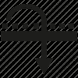 arrow, map, road icon