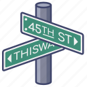street, direction, pointer, fingerpost
