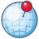 globe, location, pin