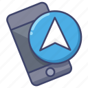 gps, mobile, navigation, smartphone icon