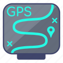 gps, navigation, tracker icon