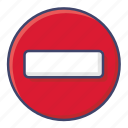 block, stop, traffic icon